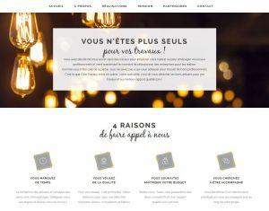 Stratégie digitale et contenu du site web Côté Travaux 1