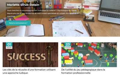 Stratégie digitale & Site web de Mariette Strub, psychologue du travail