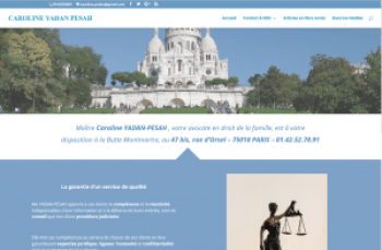 site web de Caroline Yadan Pesah, avocate en droit de la famille
