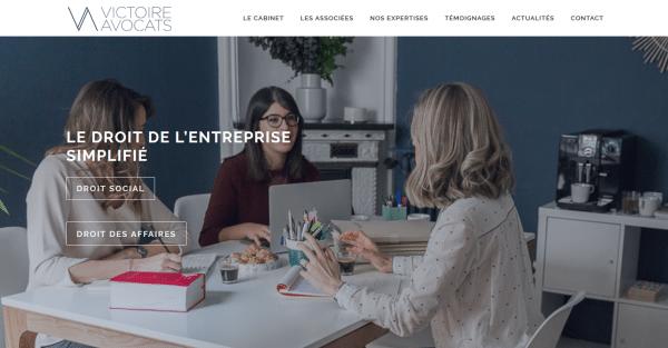 Nouveau site Victoire Avocats