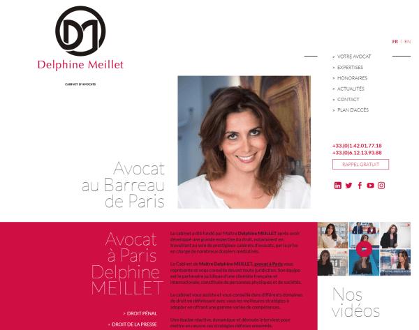 Site web de Delphine Meillet