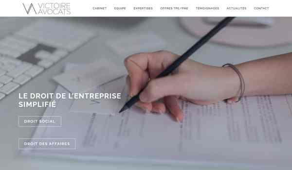 Stratégie marketing et communication de Victoire Avocats à Paris 1