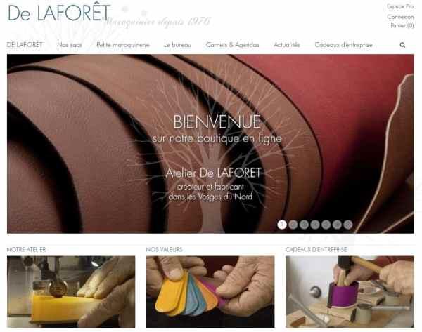 e-commerce boutique en ligne de l'atelier de Laforêt