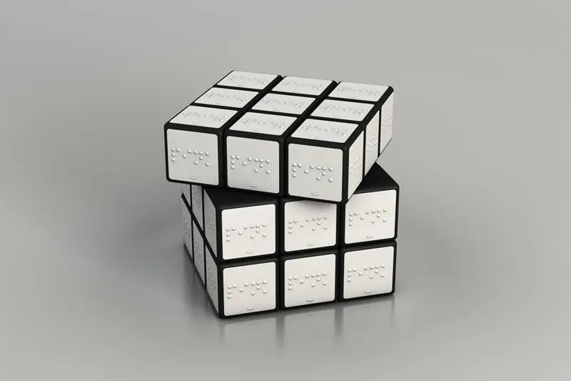scrittura braille - cubo di rubik