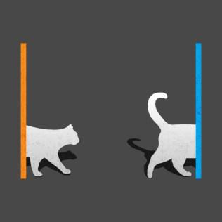 Macska teleportálás.