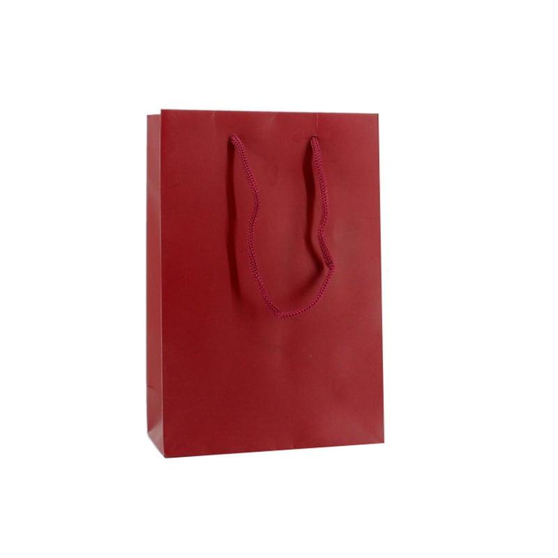 Luxe Papieren Tas - Mat Bordeauxrood