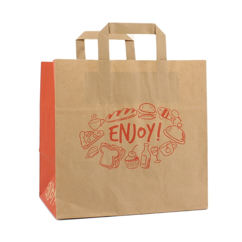 Papieren Take Away Tas - Enjoy Dessin