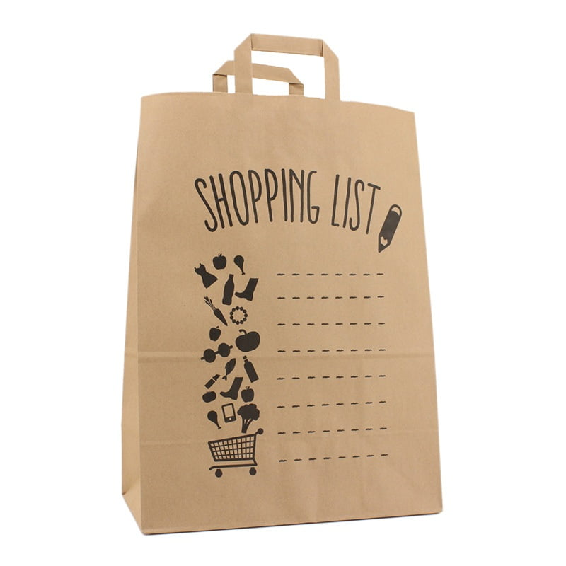 Budget Papieren Tas - Shopping List