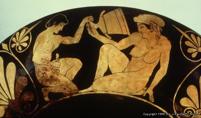 Image result for ancient Greek Masturbating vase