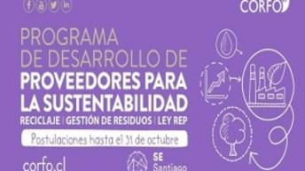 Fondo de CORFO apoya empresas que quieran trabajar con proveedores para la sustentabilidad