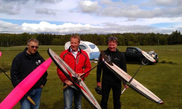 Pallen, fra venstre Morten Bremsrud, Lars Petter Eriksen og Leif Bjørgo