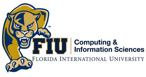 FIU Student working on laptop
