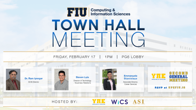 Spring 2017 Town Hall Meeting poster