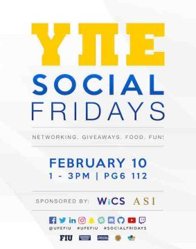 UPE Friday Social poster