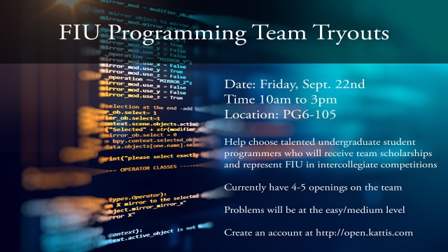 FIU Programming Team Tryouts