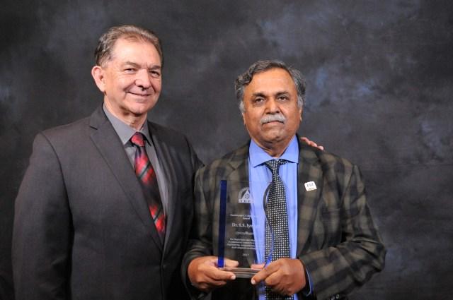 Dr. Iyengar was Awarded the Most Distinguished Ramamoorthy Award