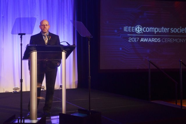 Photo of Dr. Mark Weiss IEEE Ceremony