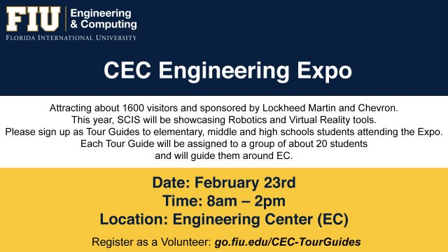 Poster of CEC Engineering Expo