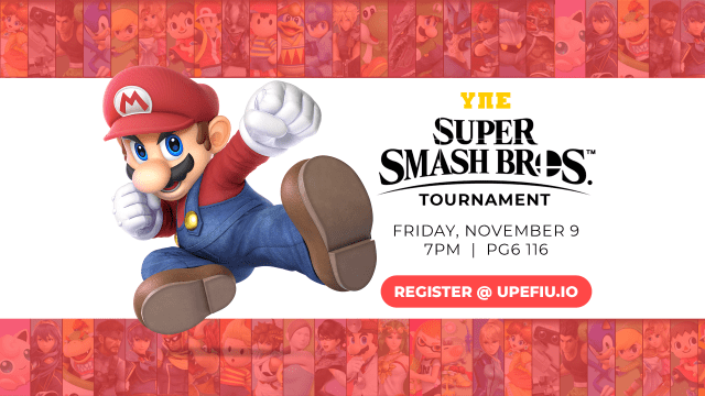 Flyer of UPE Super Smash Bros Tournament