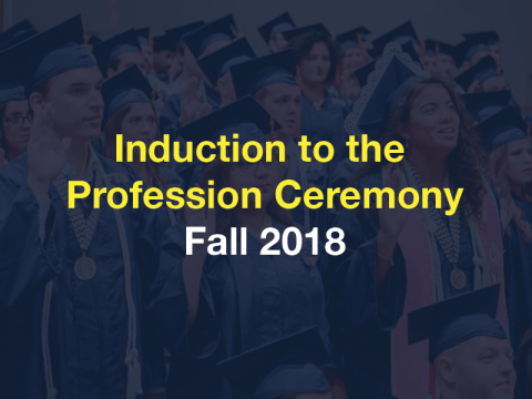 Flyer of Fall 2018 CEC Induction Ceremony