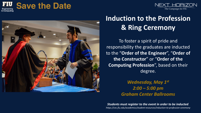 Flyer of Induction to the Profession and Ring Ceremony