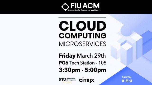 Flyer of ACM Cloud Computing Workshop part 2