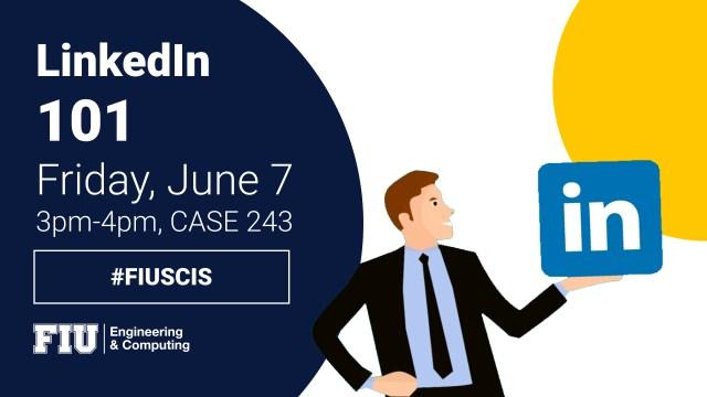 Flyer of LinkedIn 101 Workshop