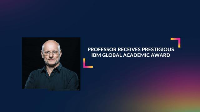 Professor receives prestigious IBM Global Academic Award