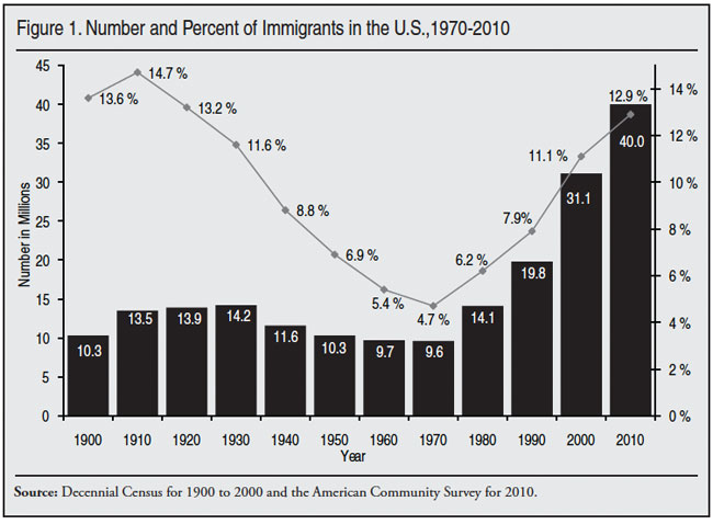 Image result for u.S. immigration by decades througj 2010