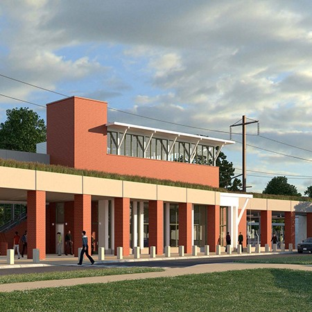Artist rendering of new Transit Hub at Newark Train Station