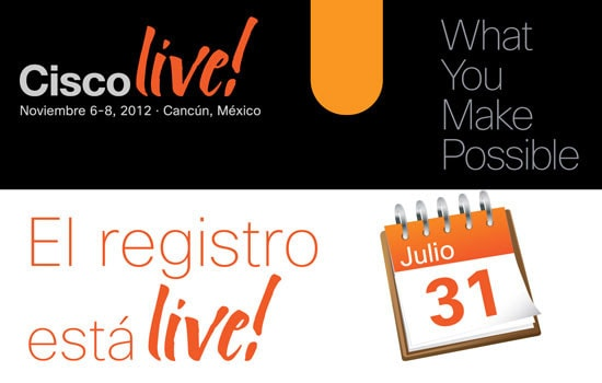 Cisco Live! El registro está live!