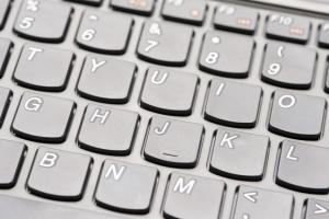 modern keyboard closeup