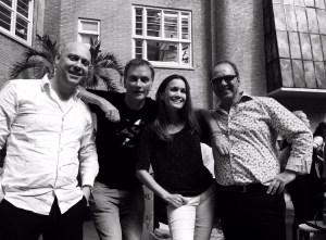 Jozua Douglas, Marcel van Driel, ik, Joris van de Leur