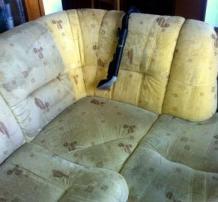 Sedežna garnitura pred in po globinskem čiščenju