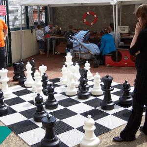 Jeu d'échecs géants 300x300cm