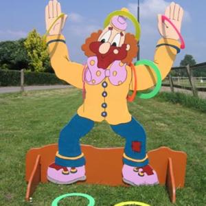 Lancer d'anneaux - clown
