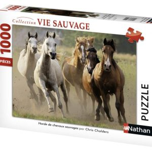Puzzle Horde de chevaux sauvages 1000 pièces