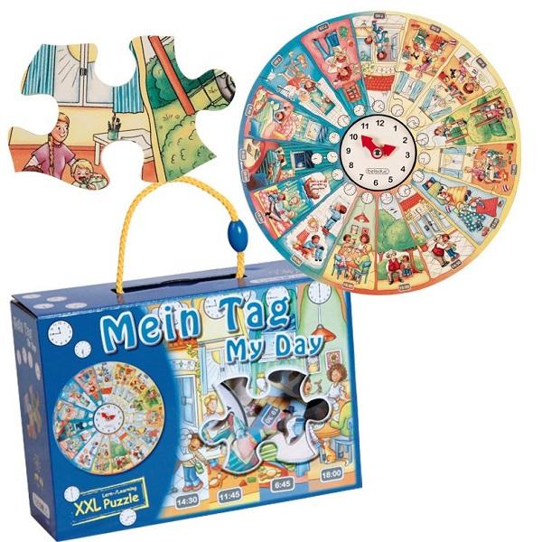 Puzzle géant Mein Tag My Day Ma journée 50 pièces