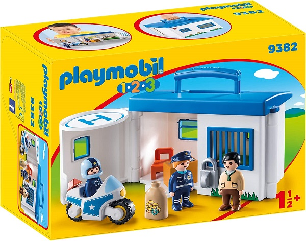 Playmobil 1.2.3. Commissariat de police transportable