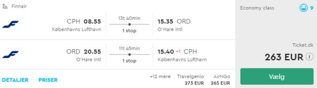 Предложение на седмицата: Двупосочни полети от Копенхаген до Чикаго от 263 Евро