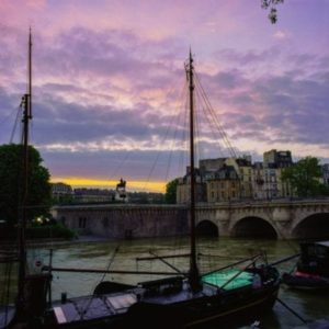 La Seine, Paris at Dawn by Anthony Epes