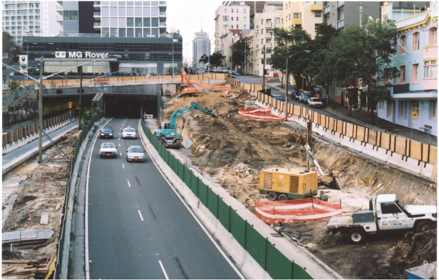 A new tunnel required a few more lanes to be squeezed in alongside the old lanes.
