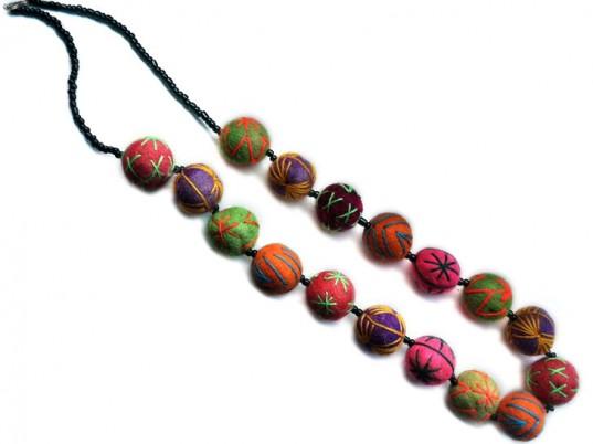 Carrie Parry Kahina Giving Beauty Design Fair Trade Pouf Necklace Cbk Citizen Brooklyn
