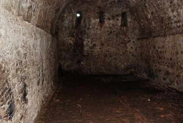 One of the male slave dungeons at Cape Coast Castle in Ghana. Courtesy of Roy Anderson