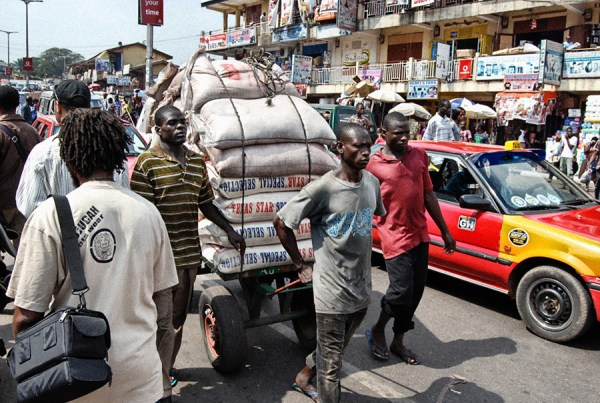 Along a busy street in Kumasi, capital of the Asante Region in Ghana Courtesy of MACPRI/Action 4 Reel Flimworks