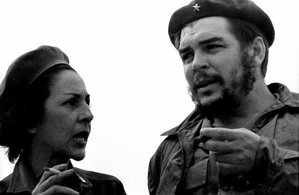 Celia Sanchez with Che Guevara