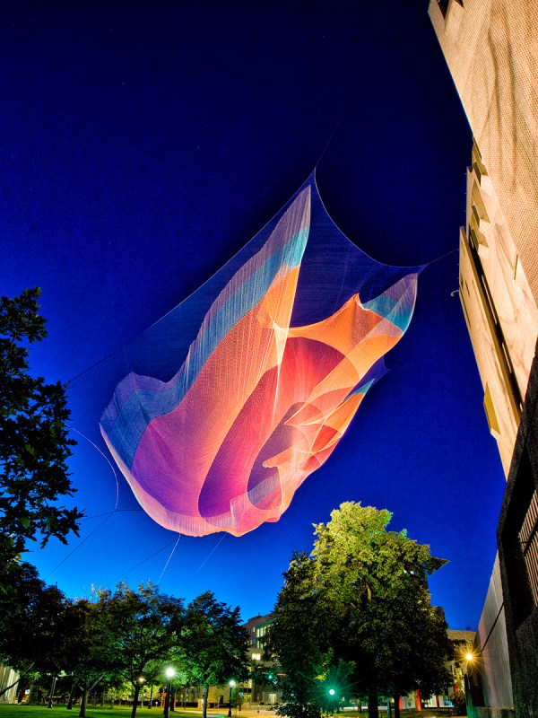Den by Janet Echelman Photo © Peter Vanderwarker