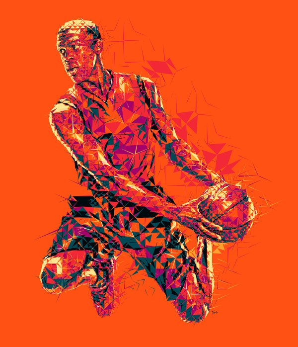FILE: SelfPromotion_Basketball2 TITLE: The heat is on! CLIENT: Personal project COUNTRY: Greece KIND: Experimental illustration YEAR: 2013 DESCRIPTION: Advertising Illustration used on my studios ads on Luerzer's Archive magazine.