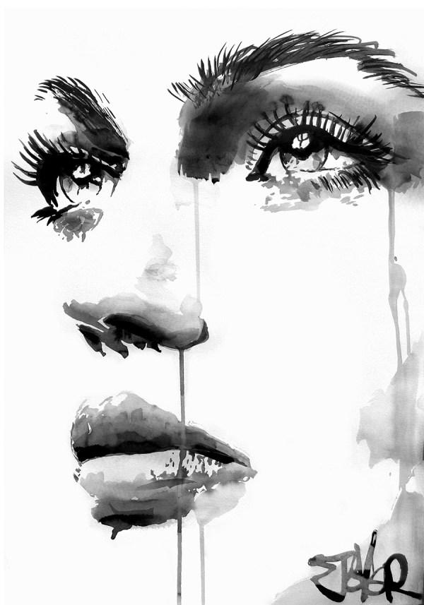 face study #17 © Loui Jover