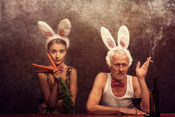 Mr rabbit we are a happy family ©Peter Zelei